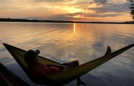 Hanging over Lake Conre